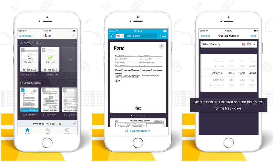 iFax Fax App for iPhone