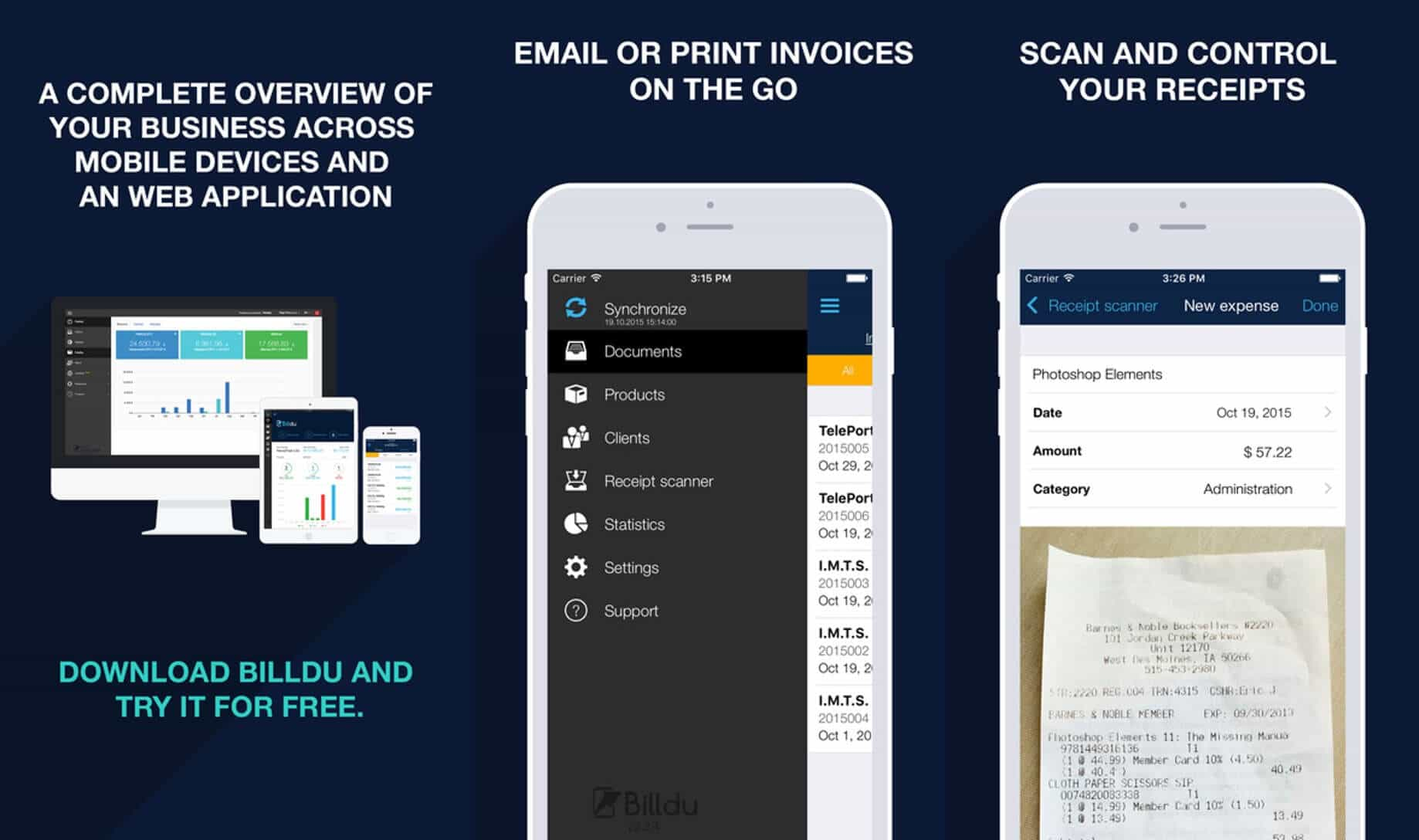 Invoice maker for iPhone