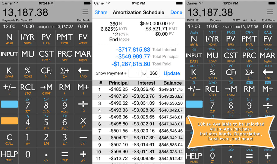 10bii Financial Calculator App
