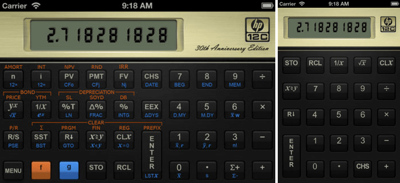 Hewlett Packard 12C Financial Calculator App