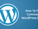 How to Fix Common WordPress Error