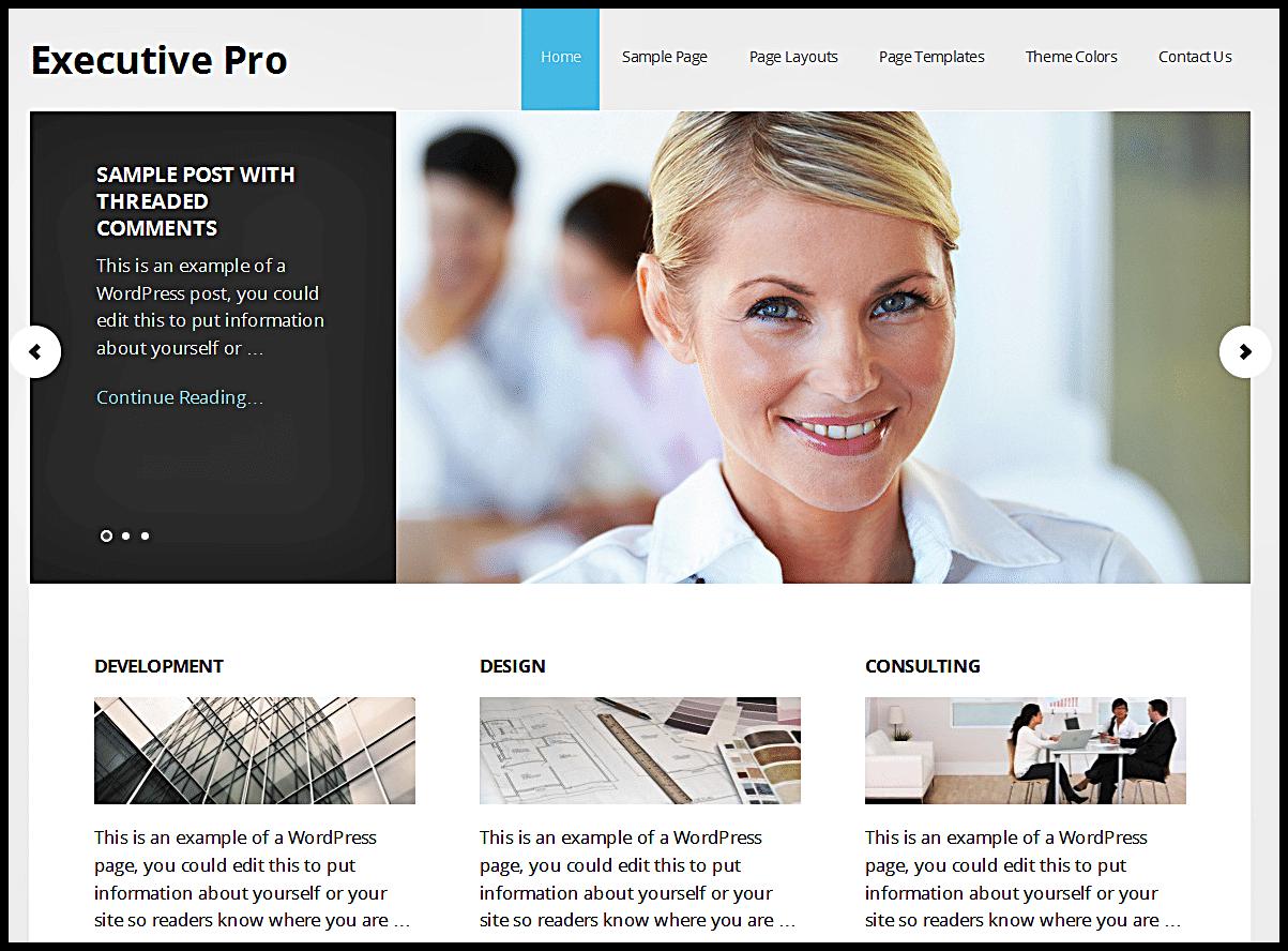 Executive Pro Business WordPress Theme