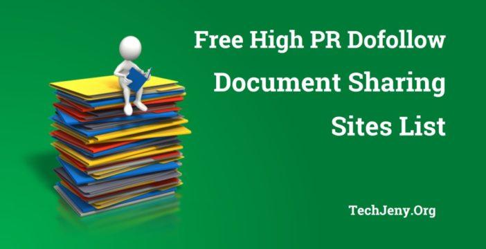 Free Document Sharing Sites List