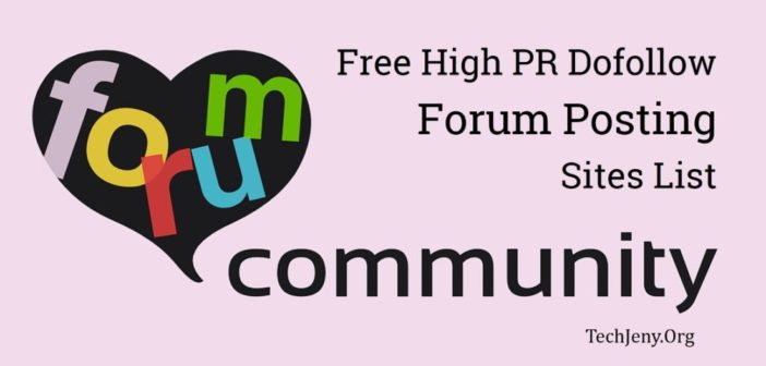 Free Top Forum Posting Sites List 2018
