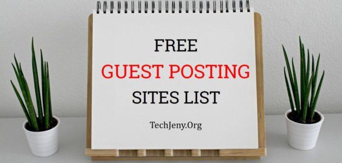 Free Guest Posting Sites List 2018