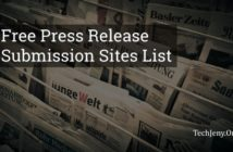 Top 10 Free Press Release Submission Sites List 2018