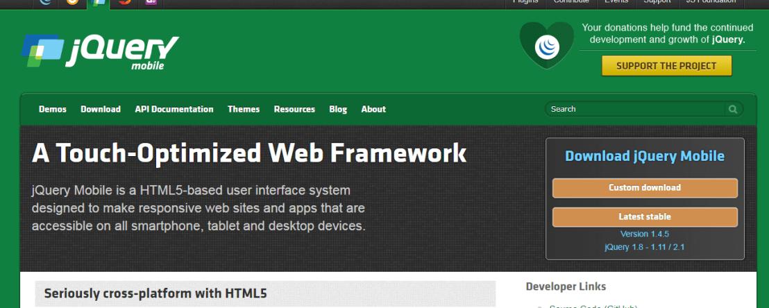 jQuery Mobile Best Responsive HTML5 Framework