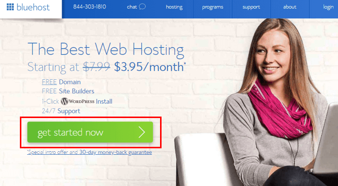 Choose Web hosting and Sign up