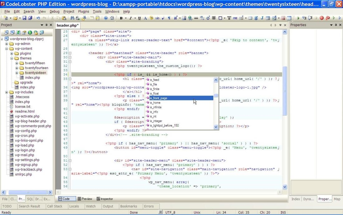PHP HTML CSS JavaScript editor Codelobster PHP Edition