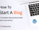 how to create a wordpress blog step by step guide