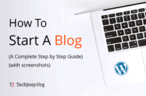 how to start a blog in wordpress