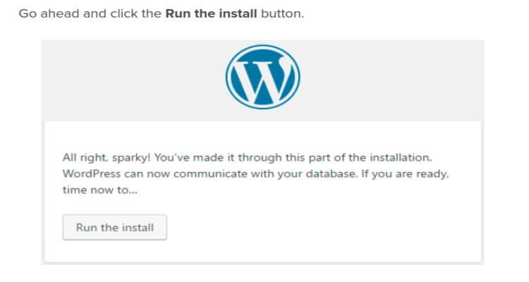 run the install